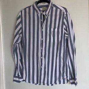 J crew button down striped shirt